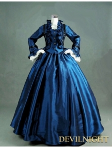 blue-victorian-day-dress-with-long-sleeves