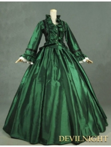 green-victorian-day-dress-with-long-sleeves